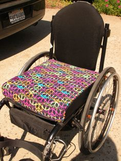 Wheelchair cushion covers custom made, $36 @ etsy.  >>> See it. Believe it. Do it. Watch thousands of spinal cord injury videos at SPINALpedia.com