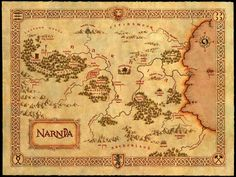 Narnia map, The Chronicles of Narnia series, C.S. Lewis