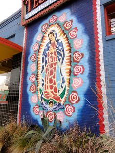 Exploring Austin's Street Art, Murals & Mosaics   Free Fun in Austin---Our Lady of Guadalupe- corner of S. Congress & 15th