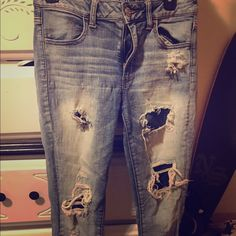 American Eagle Capris Size 6 great condition just too small for me American Eagle Outfitters Jeans Ankle & Cropped