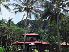 Railay Beach in Thailand Railay Beach, Transportation, Thailand, Cabin, House Styles, Home, Cabins, Ad Home, Cottage