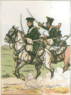 French; 1st Chasseurs a Cheval, Chasseurs, Tenue issued to conscripts for the 1814 campaign.