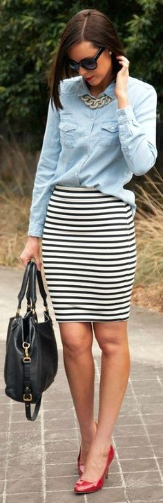 Stripes And Chambray by Style Elixir