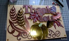 Thanksgiving, Harvest, Autumn Dinner 3D Thank You Cards by BrushFancy on Etsy