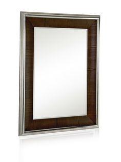 62% OFF Majestic Mirrors Walnut Veneer with Nickel Mirror (Silver/Walnut)