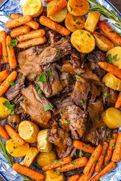 Red Wine Pot Roast is such a traditional meal, but it feels gourmet! This is the best pot roast recipe make for hearty winter meals, holidays, or special occasions. No one can say no to a juicy pot roast with veggies! Find out how to cook pot roast in the oven for the perfect winter meal.