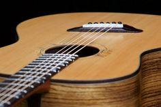 Soderlund Guitars short multiscale, medium-bodied acoustic in zebrano and douglas fir. Douglas Fir, Acoustic, Guitars, Music Instruments, Medium, Musical Instruments, Guitar, Medium Long Hairstyles