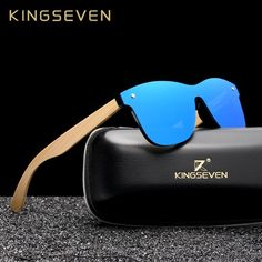 be8ff40f03 KINGSEVEN 2019 Luxury Design Vintage Bamboo Wooden Sunglasses Handmade  Polarized Mirror Fashion Eyewear Glasses Wood Box