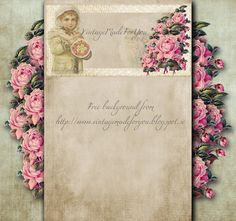 Free blog background  'The garden's sweetest' from VintageMadeForYou