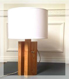 Lampadaire moderne Bray en chêne clair |