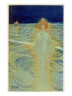 Ghost Appearing Above the Sea During the Night, Early 20th Century Giclee Print