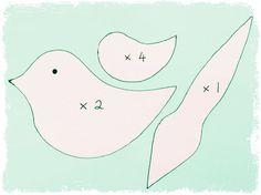 bird felt pattern easy