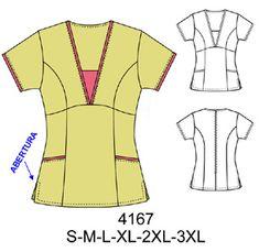 Delantales Spa Uniform, Scrubs Uniform, Scrubs Pattern, Restaurant Uniforms, Corporate Uniforms, How To Make Clothes, Making Clothes, Medical Scrubs, Fashion Design Sketches
