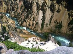 Grand Canyon of Yellowstone National Park, with Yellowstone River