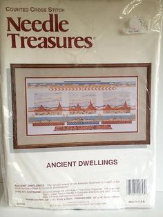 Needle Treasures Ancient Dwelling Cross Stitch American Southwest Landscape USA
