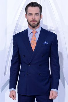 Chris Pine.   SubCategory A: Suit Porn. SubCategory B: Unmitigated Beard Porn. SubCategory C: I Hate You, You Dapper, Gorgeous Bastard.