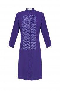 Blue Sequins Embellished Shirt Dress #purple #sequins #embellished #highstreetfashion #readytowear #indiandesigner #anandbhushan #ppus #shopnow