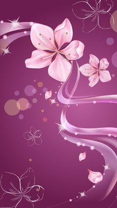 iPhone 5 Wallpaper Digital Flower 03
