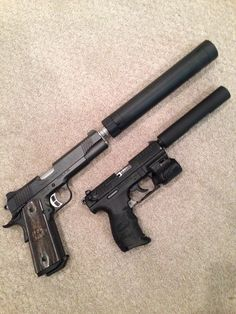 i love the sound of a suppressed 45 and a 1911 with a can is