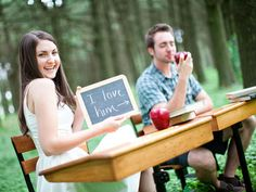 Thisback-to-school weddinggets an A  for its execution and attention to detail.Photo Credit: Tim Tab Studios
