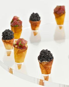 Perfect mini cones filled with savory flavors