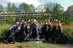 whole bridal party acting like goofs!