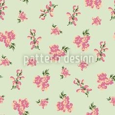 Garden Romance Green by Viktoryia Yakubouskaya available as a vector file on patterndesigns.com