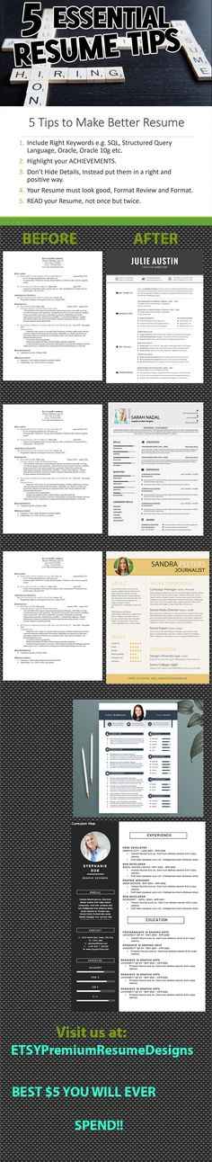 Resume Template CV Template for Word Professional Resume - how to make a better resume
