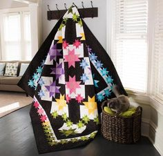 Boundless Solids Quilter's Quandary by Debbie Caffrey Quilt - Quilting Kit includes Fabric & Pattern!