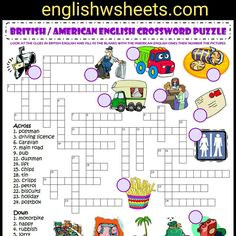 Printable Lexicon Puzzles Check more at crosswordpuzzles-. 4th Grade Math Worksheets, Maths Puzzles, Worksheets For Kids, Kindergarten Activities, British And American English, Printable Crossword Puzzles, Puzzle Maker, Math Subtraction, Vegetable Gardening