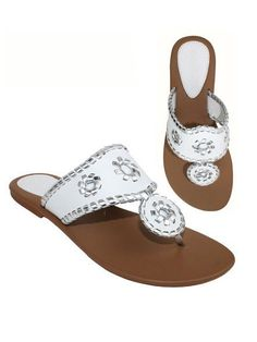 60412ac6a Jack Rogers Inspired Sandals - White from Chocolate Shoe Boutique