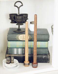 Set of  Two Vintage Wood Bobbins Vintage Sewing by blondiensc, $12.50