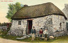 Cottages Ireland Irish Cottage, Old Cottage, Irish Landscape, Ireland Landscape, Ireland Map, Ireland Travel, Old Pictures, Old Photos, Cottages Ireland