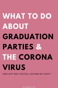 Are you wondering what you should do about your graduation party with the CoronaVirus? Here's the best ways to still make your graduation special. Outdoor Graduation Parties, Graduation Party Themes, College Graduation Parties, Graduation Party Decor, Graduation Gifts, Graduation Invitations, Grad Parties, Graduation Ideas, Grad Party Decorations