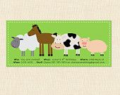 Farm Birthday Party Decoration Package Children by BusyChickadees
