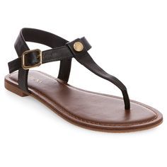 Women's Marissa Thong Sandals - Black 7.5