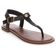 Women's Marissa Thong Sandals - Black 7.5