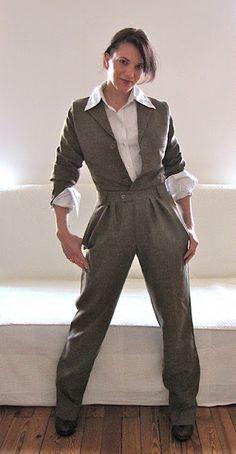 Turn men's suit pants into women's slacks