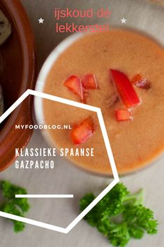 Gazpacho Recept, Healthy Food, Healthy Recipes, Happy Foods, Food Blogs, Cantaloupe, Soup, Party Ideas, Fruit
