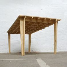 "the first step toward making a ""true-top"". With a bottom skin as well, it becomes a ""stressed-skin"" - ""Torsion Box"" . a tremendously strong, flat table. Plywood Table, Plywood Furniture, Table Furniture, Cool Furniture, Furniture Design, Plywood Board, Timber Furniture, Plywood Projects, Furniture Projects"