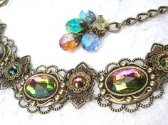 With Flying Colors  Vitrail Glass and Brass by MorningGloryDesigns