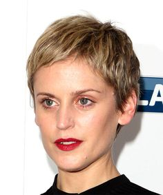 Denise Gough Straight Casual Pixie- side on view