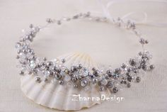 Bridal Pearls CrownBridal TiaraGrey Pearls by ZhannaDesign on Etsy