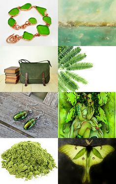Awesome greens - featuring shop Alaridesign by Marzena on Etsy--Pinned with TreasuryPin.com