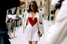 Olivia Palermo, white dress, París, street style