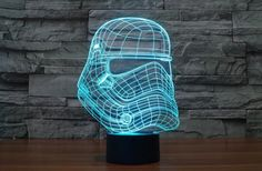 Hearty Led Luminous Nightlight Colourful Changing Light Glow Star Wars Darth Vader Helmet Black Knight Mask Figure Toys Action & Toy Figures
