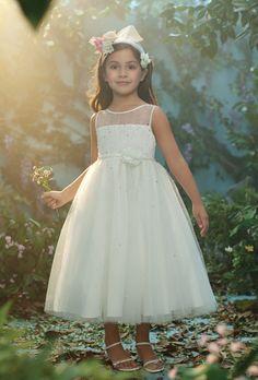Disney Fairy Tale Weddings by Alfred Angelo Flowergirl Dresses-Belle 717