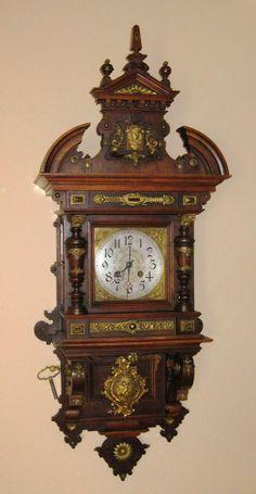 Gustav Becker Triple Weight Wall Clock German ITs ABOUT