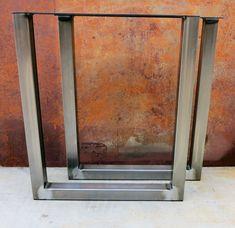 Metal table legs/Iron/Steel Desk legs, Made in the USA ! Any Size ! Diy Table Legs, Steel Table Legs, Industrial Metal Table Legs, Cast Iron Table Legs, Walnut Furniture, Metal Furniture, Desk Legs, Cleaning Wood, Iron Steel