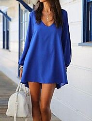 Women's Chiffon V-neck A-line Long Sleeve Dresses Save up to 80% Off at Light in the Box using coupon and Promo Codes.